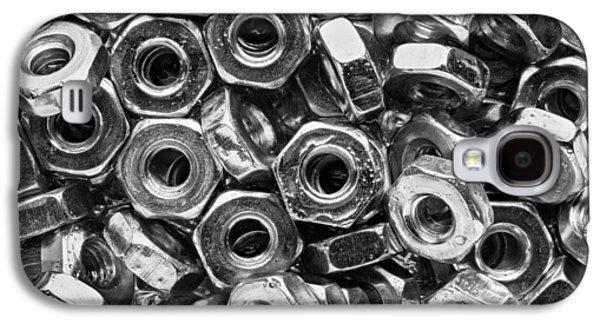 Machine Screw Nuts Macro Horizontal Galaxy S4 Case by Steve Gadomski