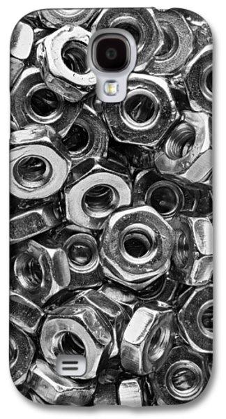 Machine Screw Nuts Macro Vertical Galaxy S4 Case by Steve Gadomski