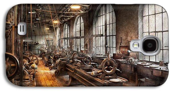 Machinist - A Room Full Of Lathes  Galaxy S4 Case by Mike Savad