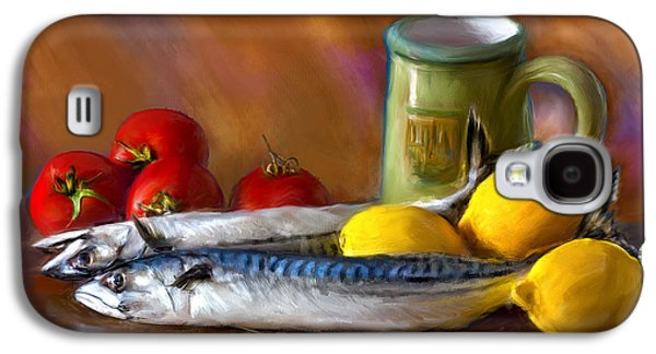 Mackerels, Lemons And Tomatoes Galaxy S4 Case by Juan Carlos Ferro Duque