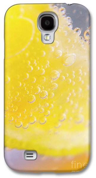 Macro Lemonade Bubbles Galaxy S4 Case