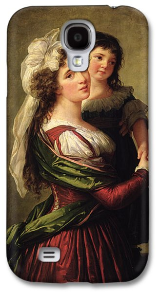 Madame Rousseau And Her Daughter Galaxy S4 Case by Elisabeth Louise Vigee Lebrun
