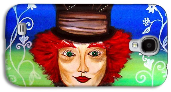 Madhatter Galaxy S4 Case by Pristine Cartera Turkus