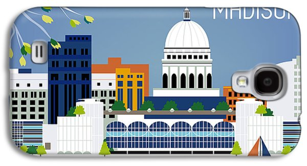 Madison Wisconsin Horizontal Skyline Galaxy S4 Case