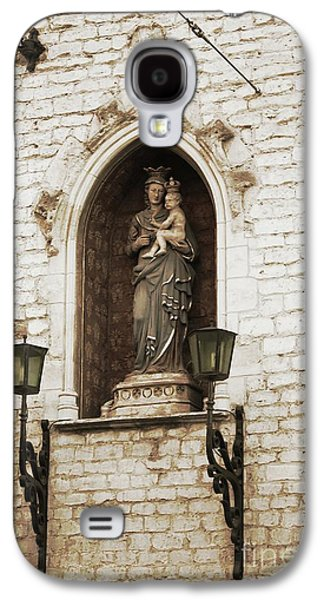 Madonna And Child Alcove Statue In  Belgium Galaxy S4 Case by Carol Groenen