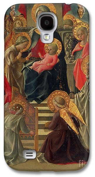 Madonna And Child Enthroned With Angels And Saints Galaxy S4 Case by Fra Filippo Lippi