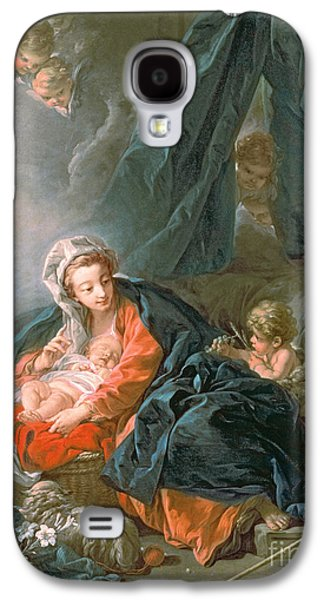 Manger Galaxy S4 Cases - Madonna and Child Galaxy S4 Case by Francois Boucher