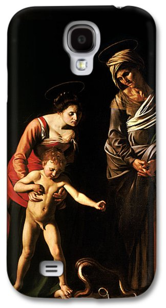 Madonna And Child With St. Anne Galaxy S4 Case by Caravaggio
