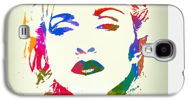 Madonna Color Paint Splatter Galaxy S4 Case