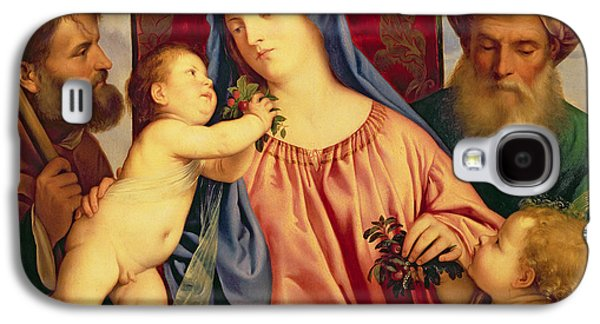 Madonna Of The Cherries With Joseph Galaxy S4 Case by Titian