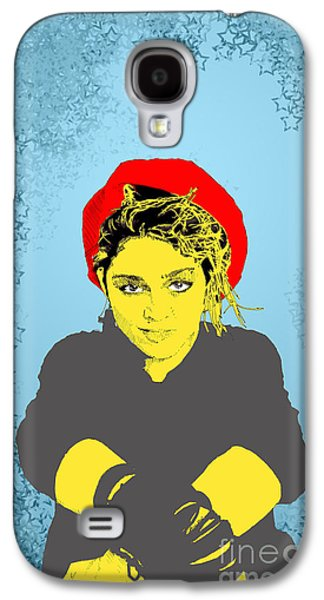 Madonna On Blue Galaxy S4 Case