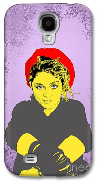 Madonna On Purple Galaxy S4 Case
