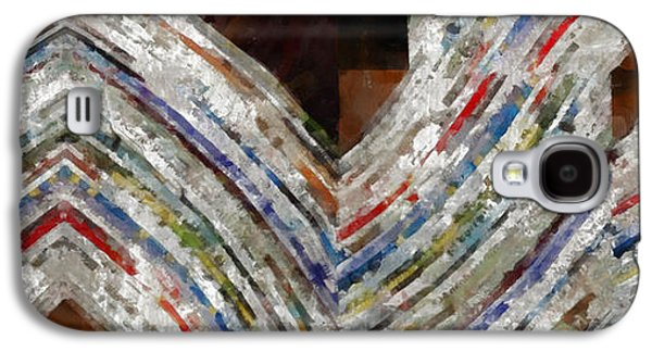Mag 5 Abstract Painting Galaxy S4 Case by Edward Fielding