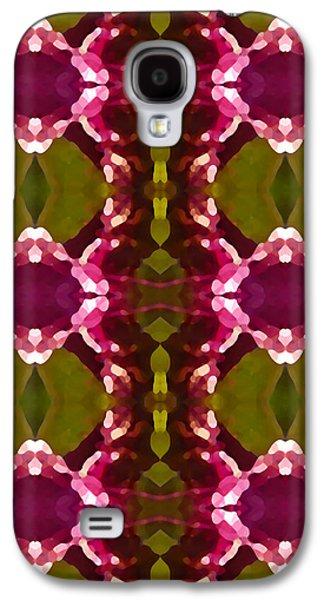 Magenta Crystal Pattern Galaxy S4 Case by Amy Vangsgard