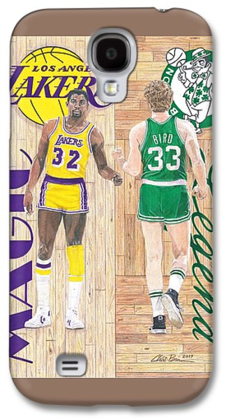 Magic Johnson And Larry Bird Galaxy S4 Case