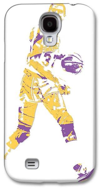 Magic Johnson Galaxy S4 Case - Magic Johnson Los Angeles Lakers Pixel Art 5 by Joe Hamilton