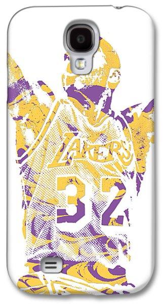 Magic Johnson Galaxy S4 Case - Magic Johnson Los Angeles Lakers Pixel Art 7 by Joe Hamilton