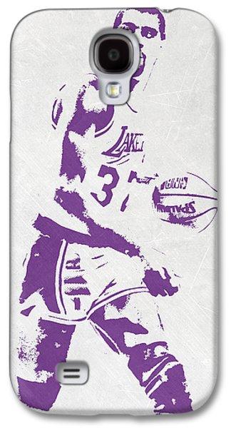 Magic Johnson Galaxy S4 Case - Magic Johnson Los Angeles Lakers Pixel Art by Joe Hamilton