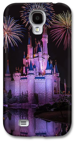 Magic Kingdom Castle Under Fireworks Galaxy S4 Case by Chris Bordeleau