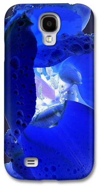 Galaxy S4 Case - Magical Flower I - Blue Velvet by Orphelia Aristal