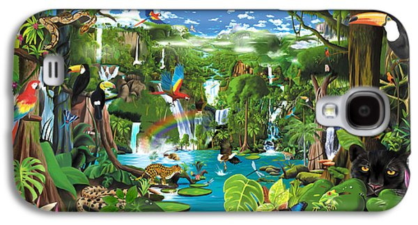 Toucan Galaxy S4 Case - Magnificent Rainforest by Gerald Newton