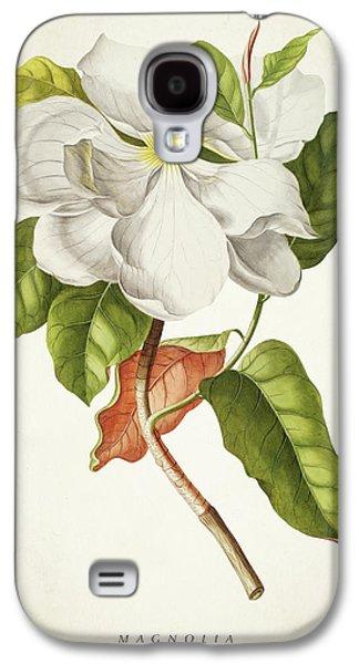 Magnolia Botanical Print Galaxy S4 Case