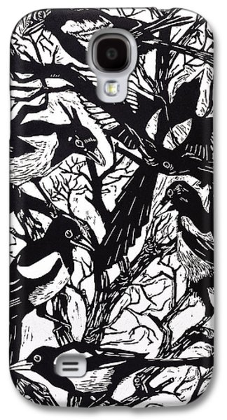 Magpies Galaxy S4 Case by Nat Morley