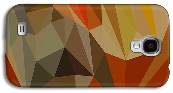 Mahogany Brown Abstract Low Polygon Background Galaxy S4 Case by Aloysius Patrimonio