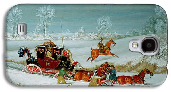 Mail Coach In The Snow Galaxy S4 Case by John Pollard