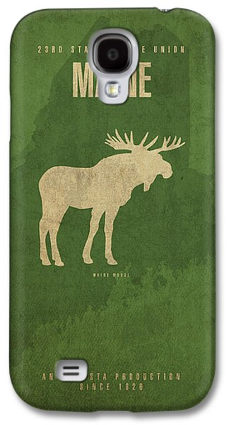Maine State Facts Minimalist Movie Poster Art Galaxy S4 Case by Design Turnpike