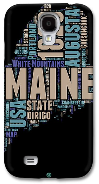 Maine Word Cloud 1 Galaxy S4 Case by Naxart Studio