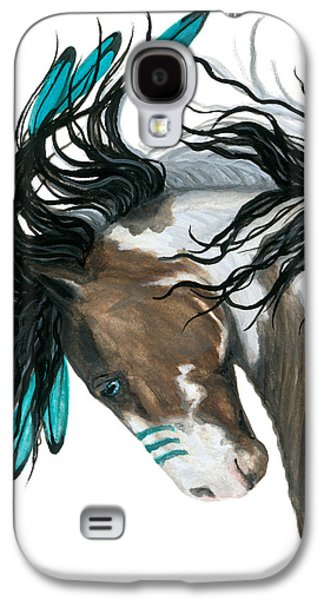 Horse Galaxy S4 Case - Majestic Turquoise Horse by AmyLyn Bihrle