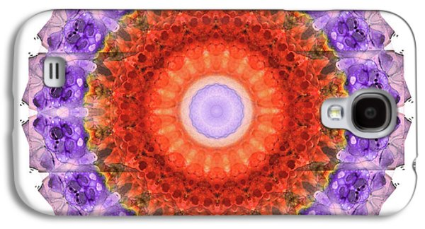 Majesty Mandala Art By Sharon Cummings Galaxy S4 Case by Sharon Cummings