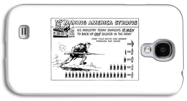 Making America Strong Cartoon Galaxy S4 Case by War Is Hell Store