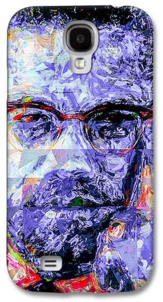 Malcolm X Digitally Painted 1 Galaxy S4 Case by David Haskett