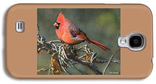 Male Cardinal Galaxy S4 Case by Ken Everett