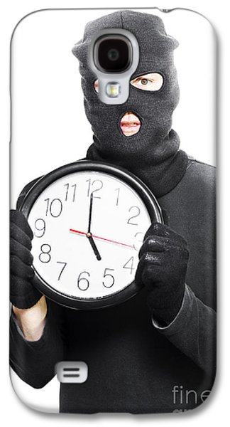 Male Criminal In Mask Holding A Clock Galaxy S4 Case by Jorgo Photography - Wall Art Gallery