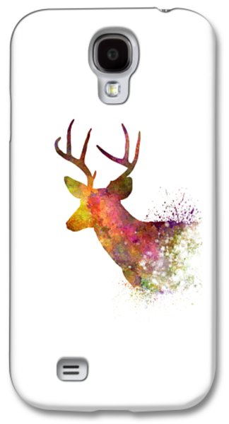 Male Deer 02 In Watercolor Galaxy S4 Case