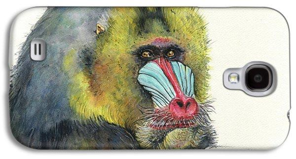 Ape Galaxy S4 Case - Male Mandrill by Juan Bosco
