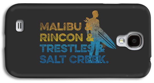 Malibu And Rincon And Trestles And Salt Creek Galaxy S4 Case