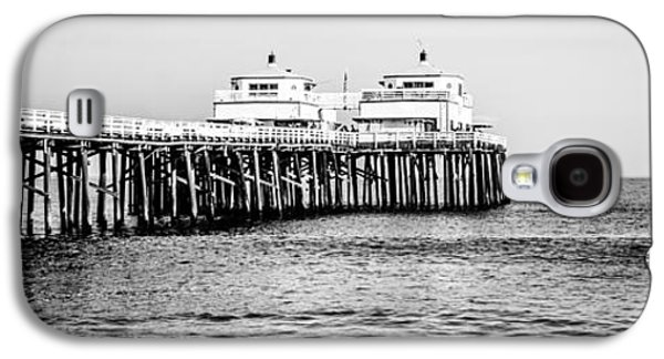 Malibu Pier Black And White Panorama Picture Galaxy S4 Case by Paul Velgos