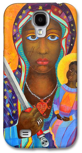 Mambo Mama Ezili Danto, Voodoo Goddess, Haiti New Orlean Black Madonna With Heart And Knife Galaxy S4 Case