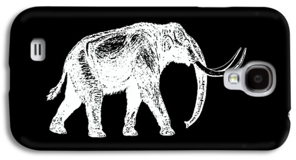 Mammoth White Ink Tee Galaxy S4 Case by Edward Fielding