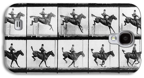 Man And Horse Jumping Galaxy S4 Case by Eadweard Muybridge