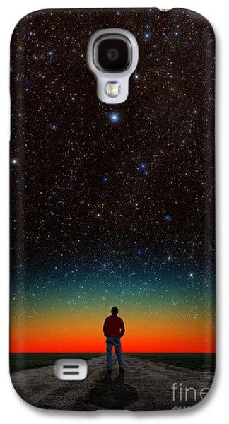 Man And Night Sky Galaxy S4 Case