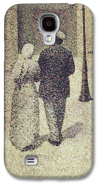 Man And Woman In The Street Galaxy S4 Case