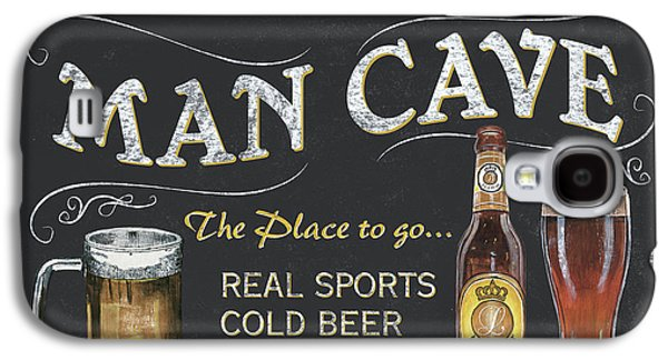 Man Cave Chalkboard Sign Galaxy S4 Case by Debbie DeWitt