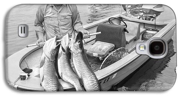 Man In Motorboat On Lake Galaxy S4 Case