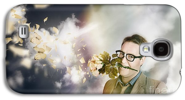 Man With Valentines Day Love And Romance Galaxy S4 Case by Jorgo Photography - Wall Art Gallery
