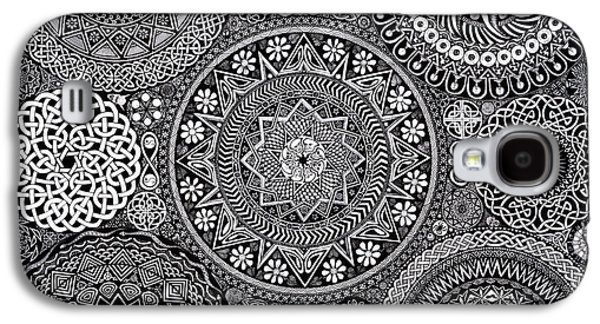 Mandala Bouquet Galaxy S4 Case by Matthew Ridgway